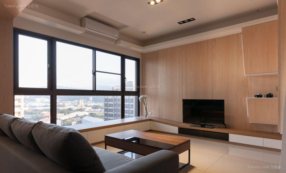 气质现代化电视背景墙装修效果图