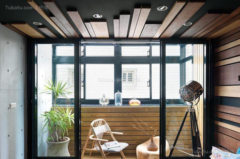 创意色彩搭配现代风阳台隔断装修效果图