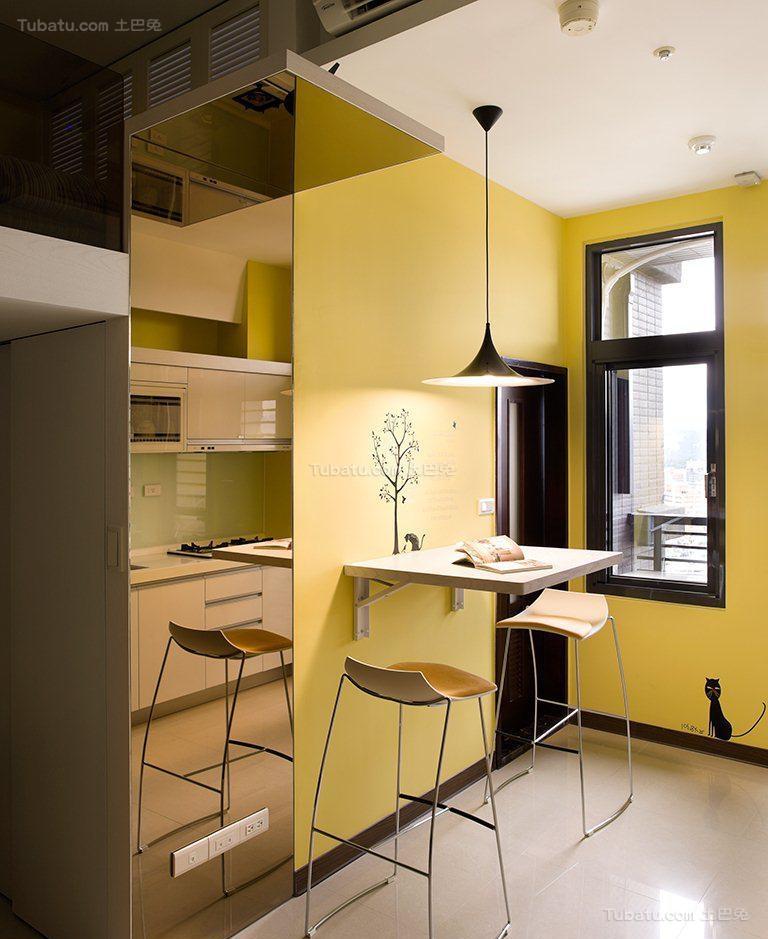 创意彩色现代风餐厅装修效果图