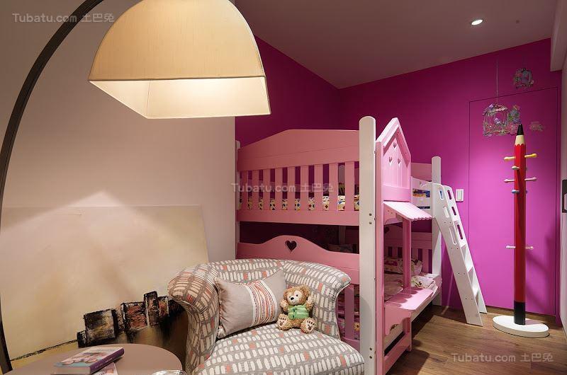 创意色彩搭配现代风儿童房装修效果图