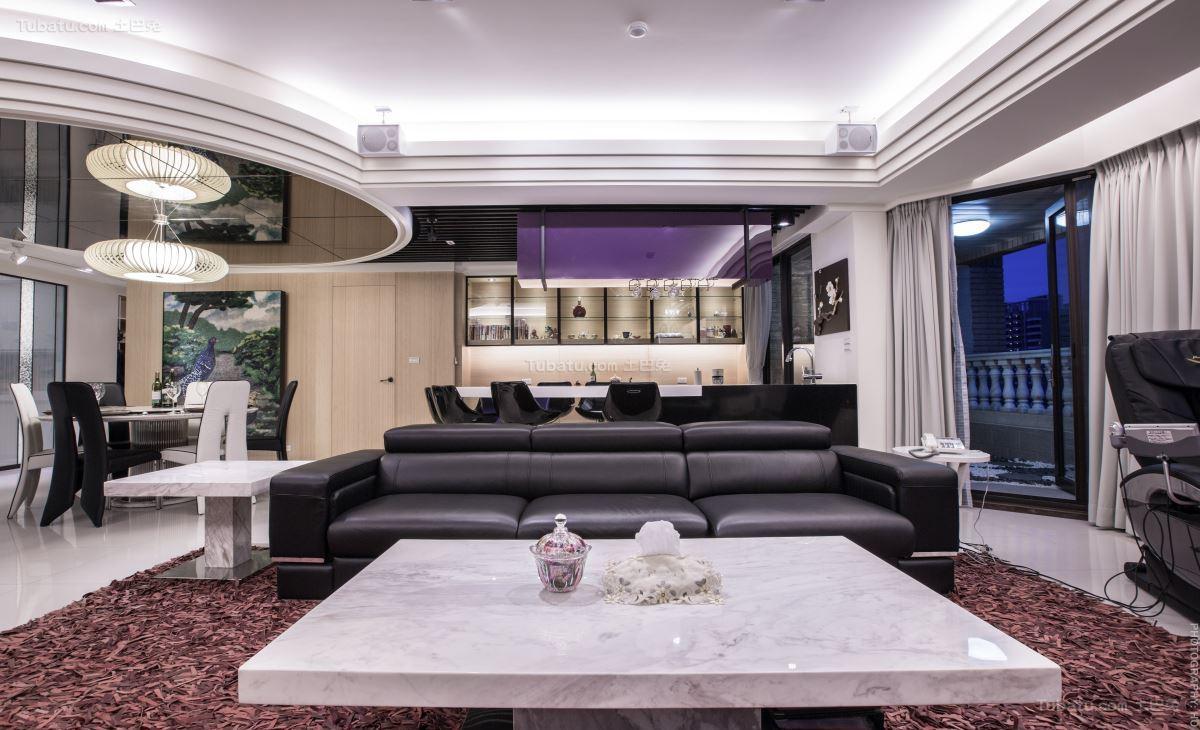 豪华大气现代化三居室装修效果图