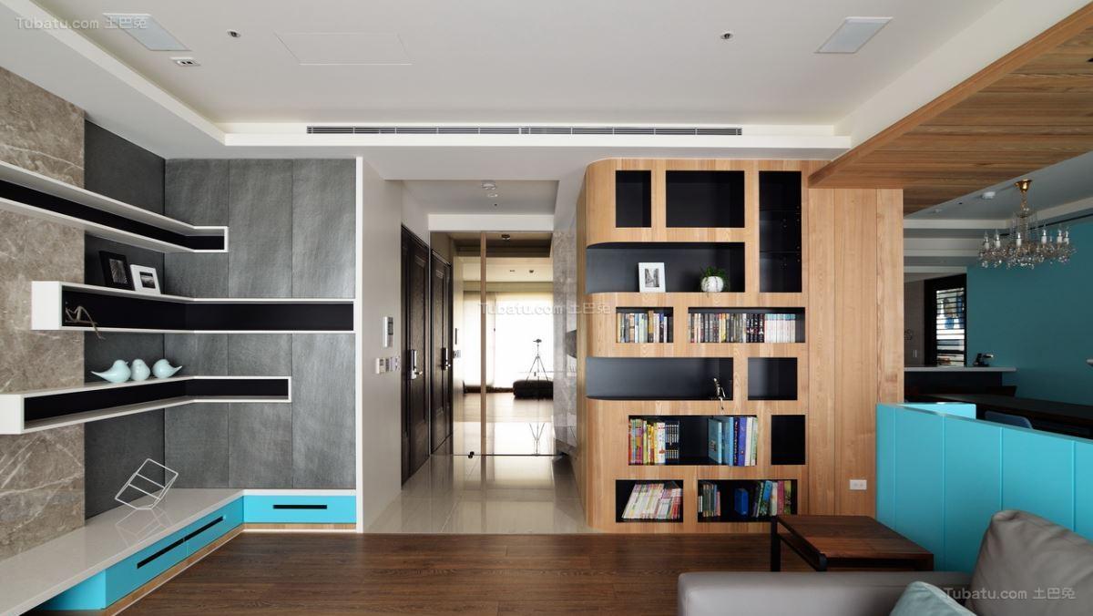 创意色彩北欧风格二居室装修效果图