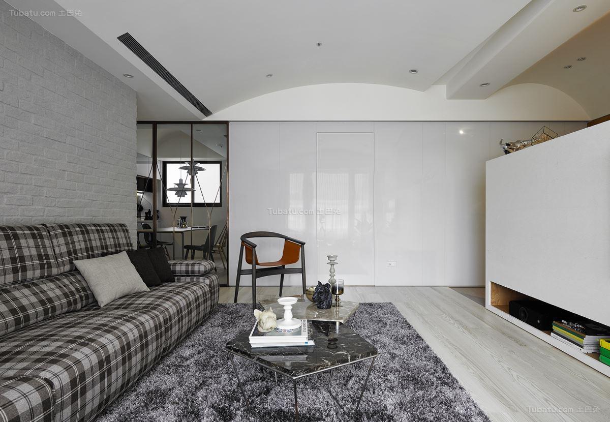 创意时尚现代化二居室装修效果图