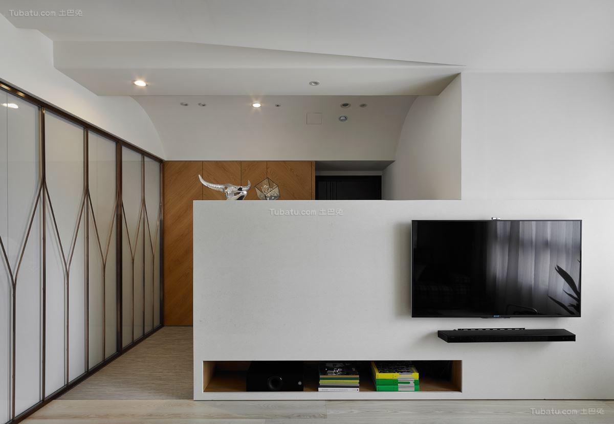 创意时尚现代化电视背景墙装修效果图