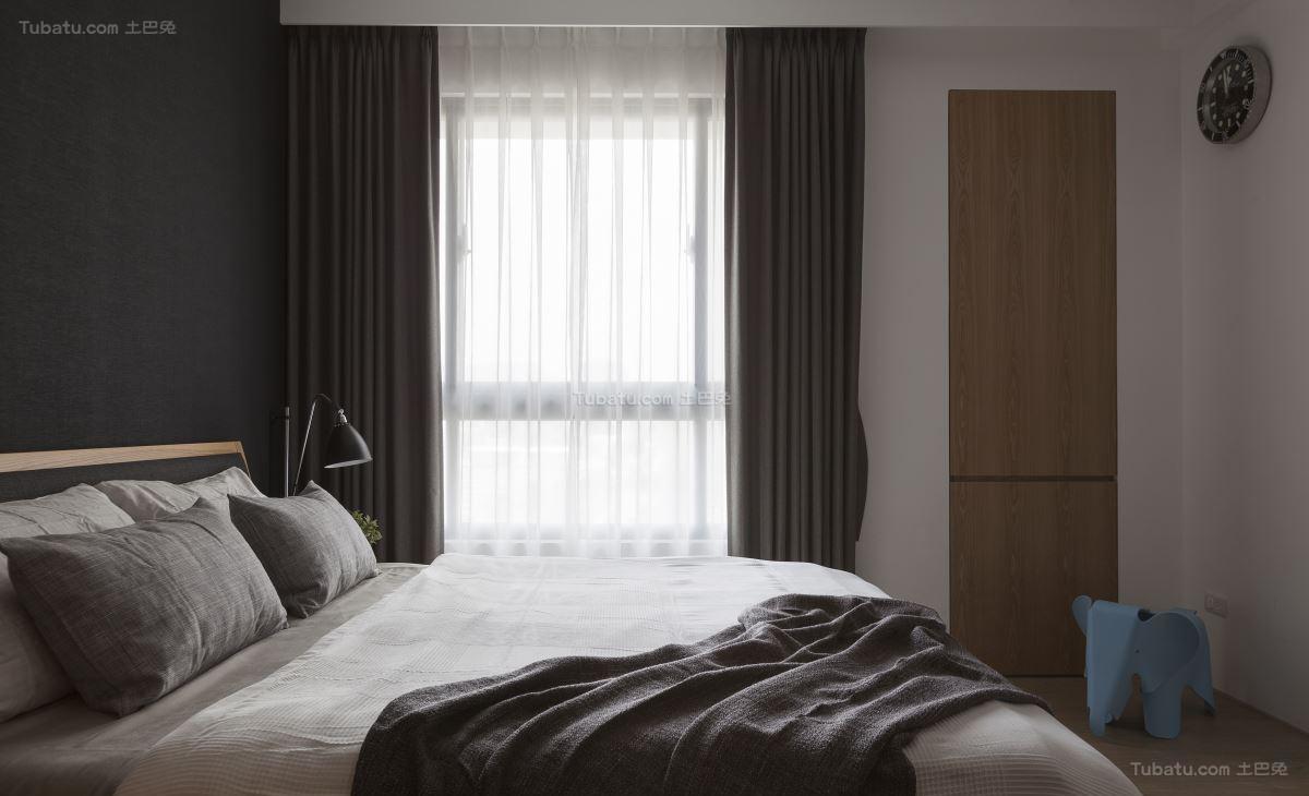 现代风暖心居家主卧室图