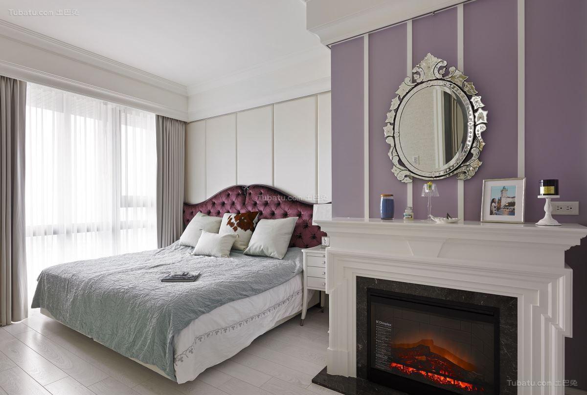 混搭风轻奢清爽卧室图片