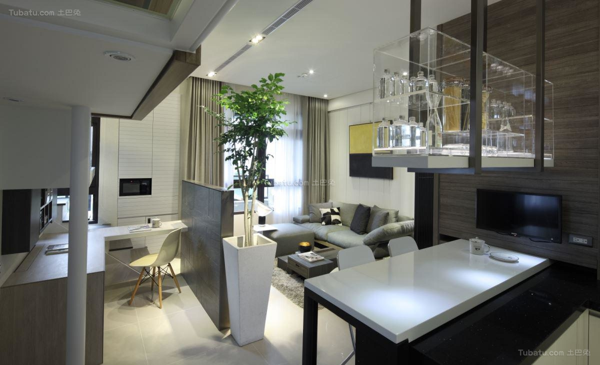 创意别致小空间一居室装修效果图