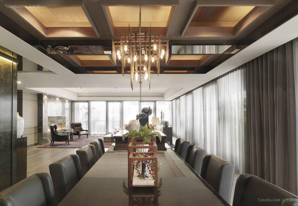 豪华精美现代风餐厅装修效果图