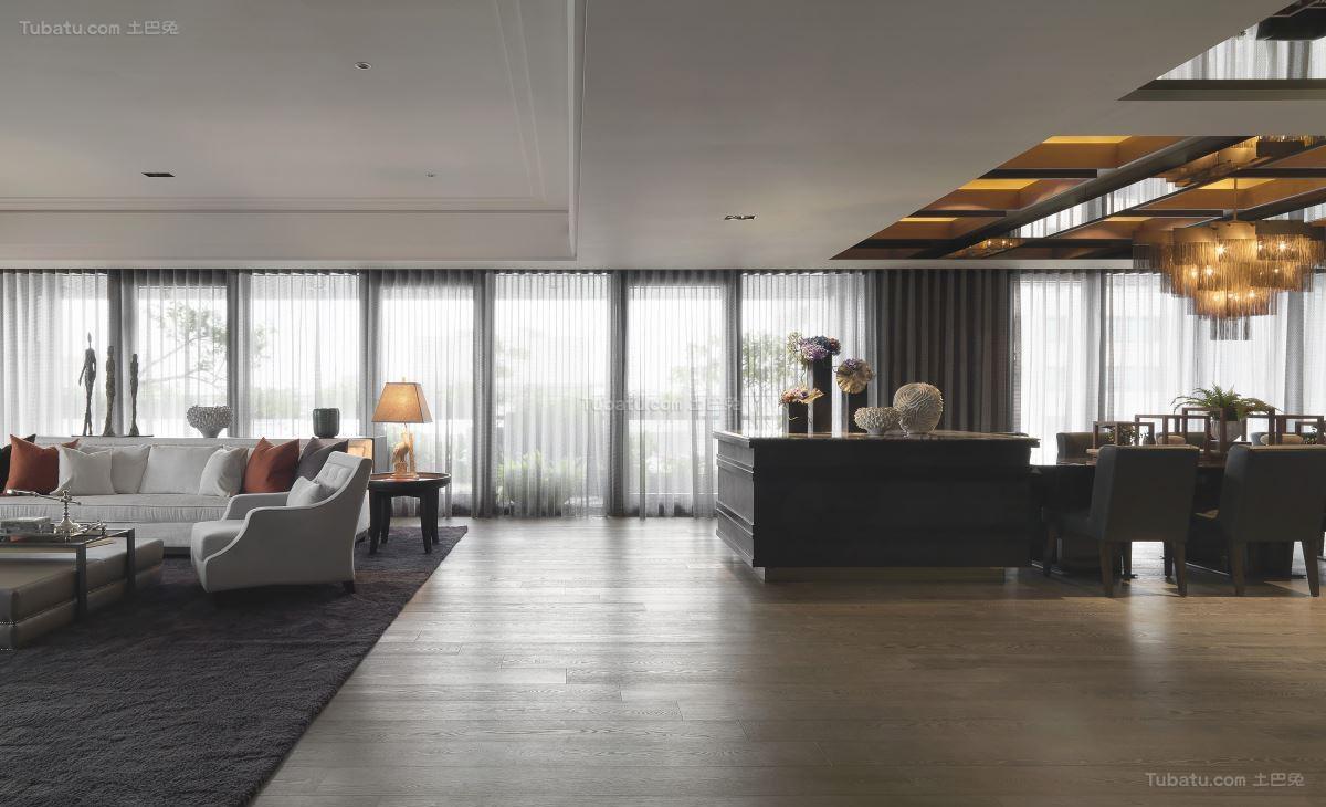 豪华精美现代风二居室装修效果图