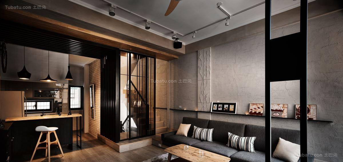 混搭风低调日式一居室图片