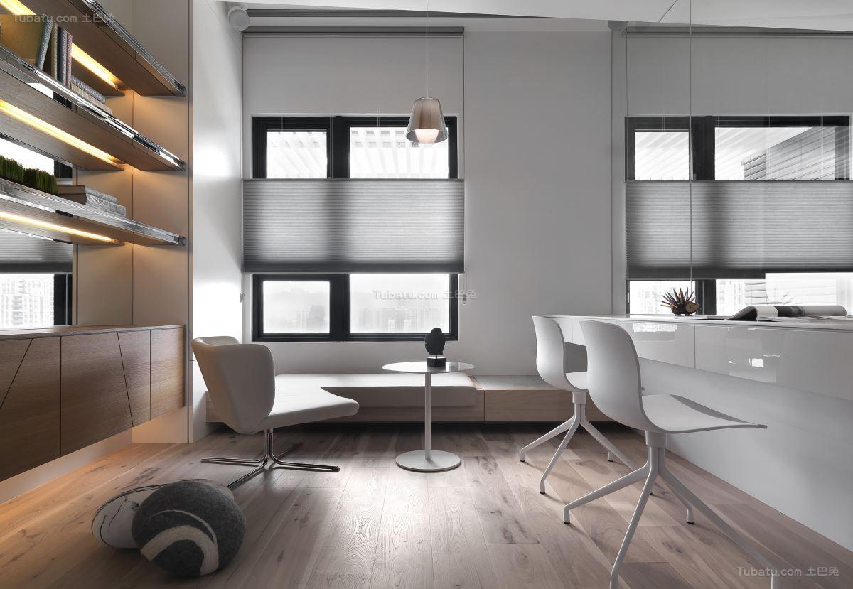 创意现代风格隔断书房装修效果图