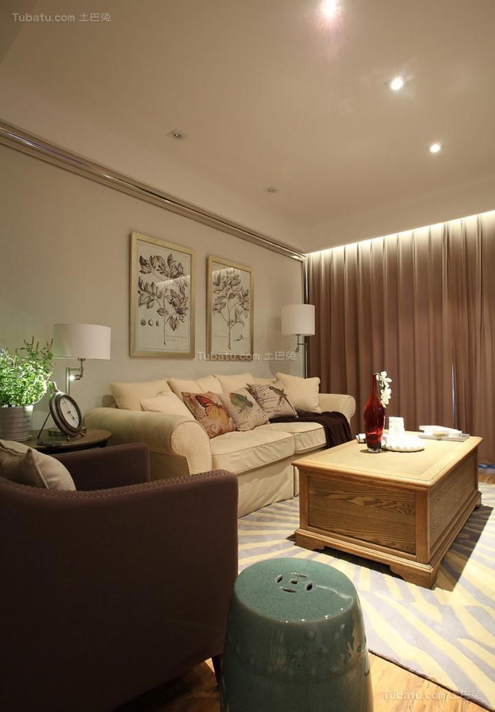 原汁原味的美式风格客厅装修效果图