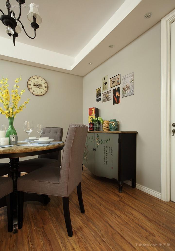 原汁原味的美式风格二居室装修效果图