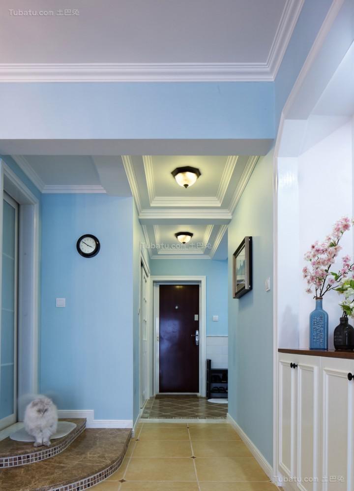 时尚地中海风格温馨三居室装修效果图