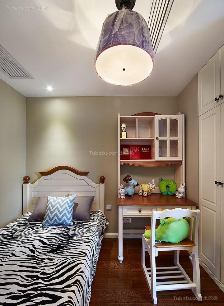 复古温馨美式风格儿童房装修效果图