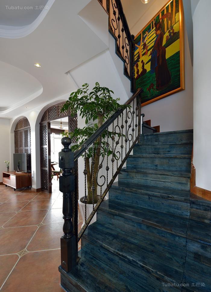 地中海雅致楼梯装修效果图