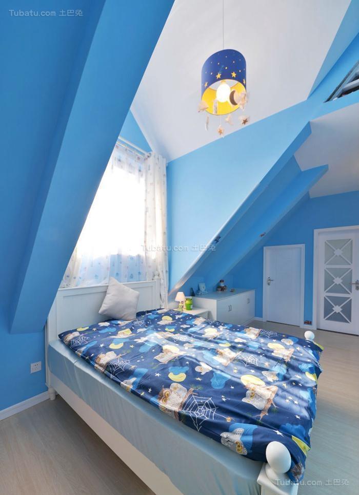 清新休闲风现代卧室装修效果图
