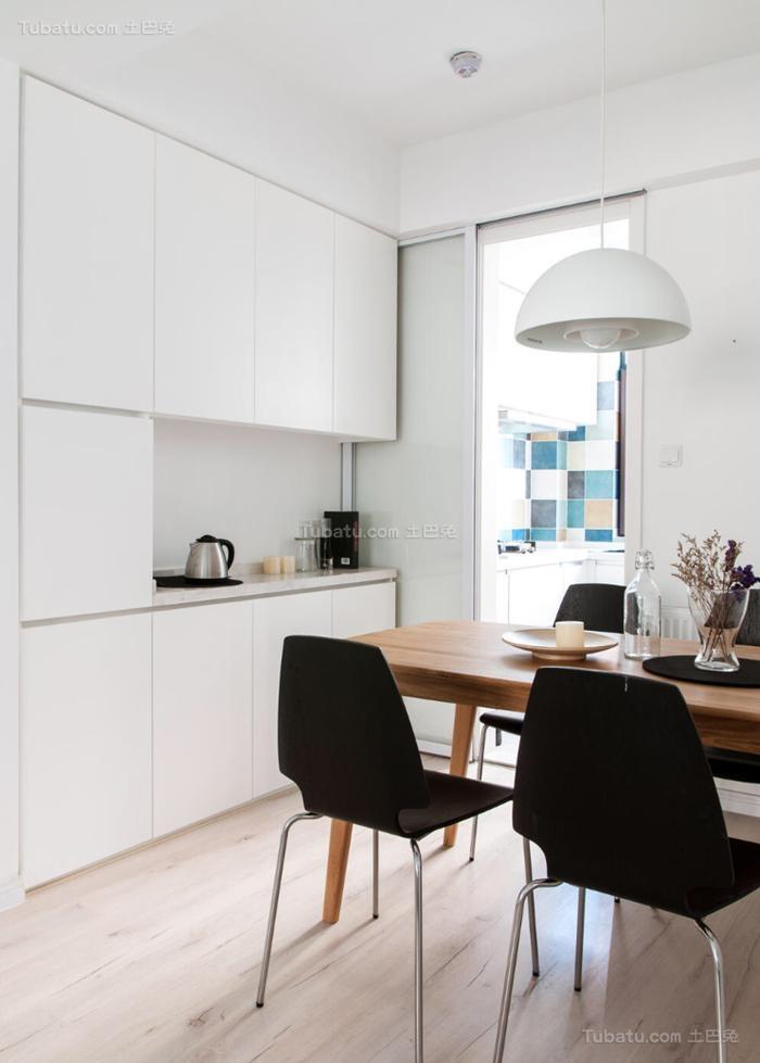 纯白色北欧风格餐厅室装修效果图