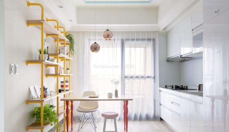 清新梦幻北欧风格厨房装修效果图