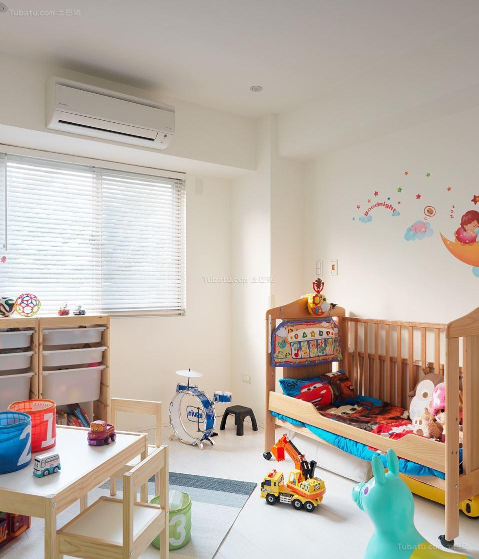 自然清新现代风格儿童房装修效果图