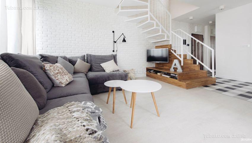 北欧风亲和舒适二居室效果图