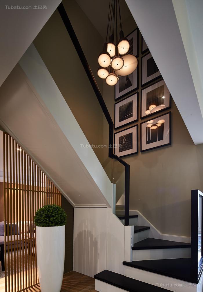 清新惬意简约风格楼梯装修效果图
