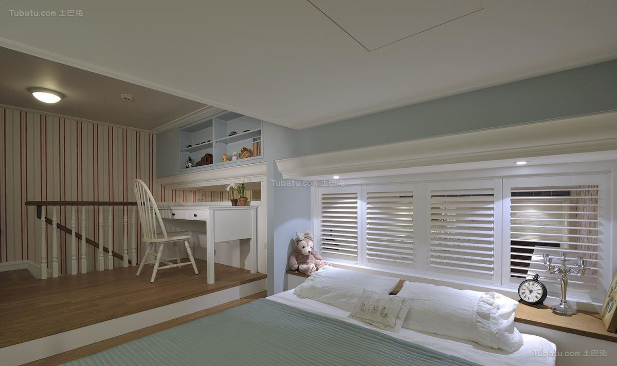 气质田园风格卧室设计效果图
