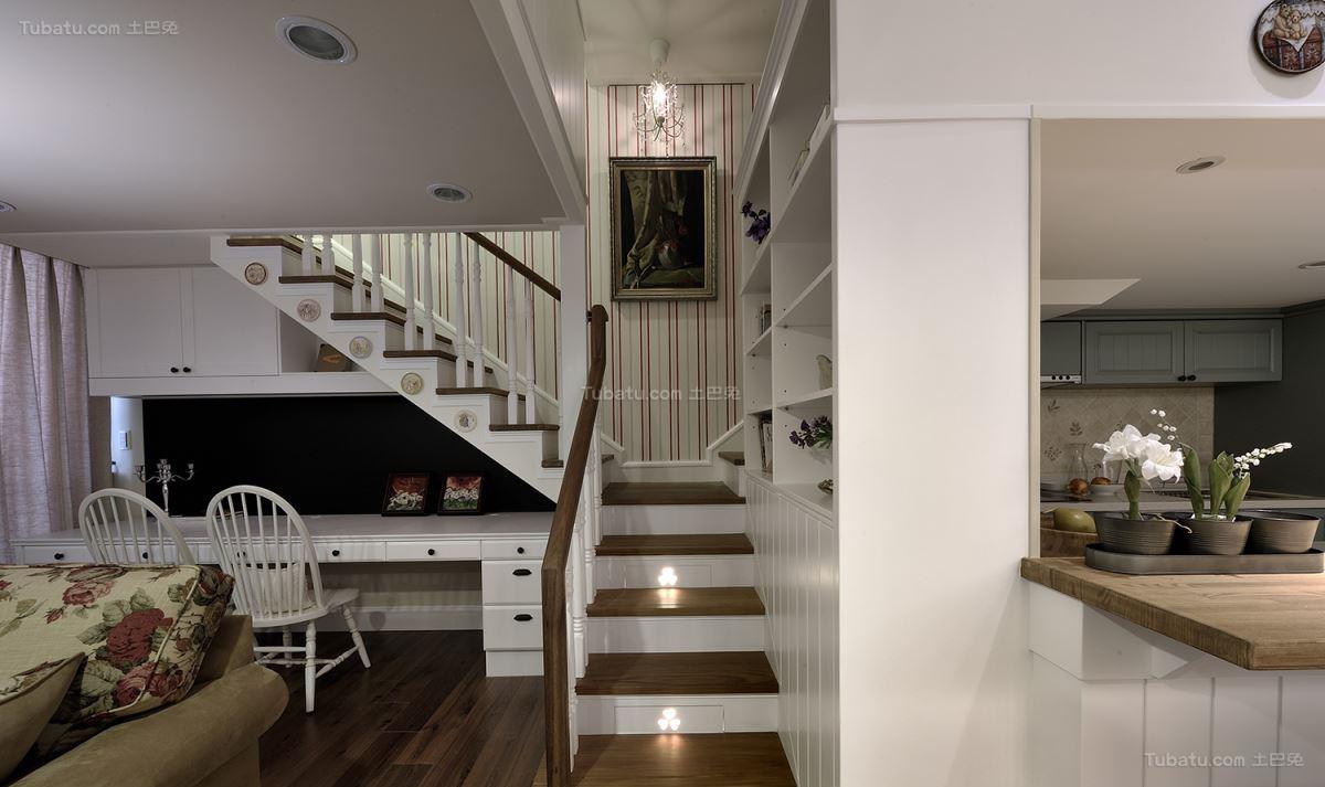 气质田园风格楼梯设计效果图