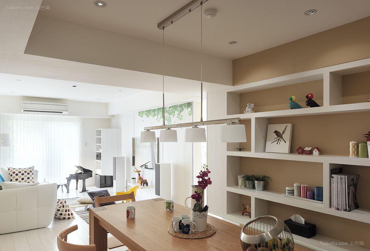 自然清新现代风格二居室装修效果图