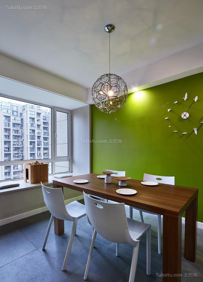 清新惬意简约风格餐厅装修效果图