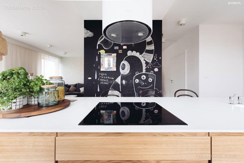 北欧风亲和舒适厨房效果图