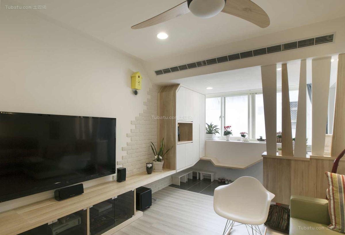 创意时尚北欧风格三居室设计效果图