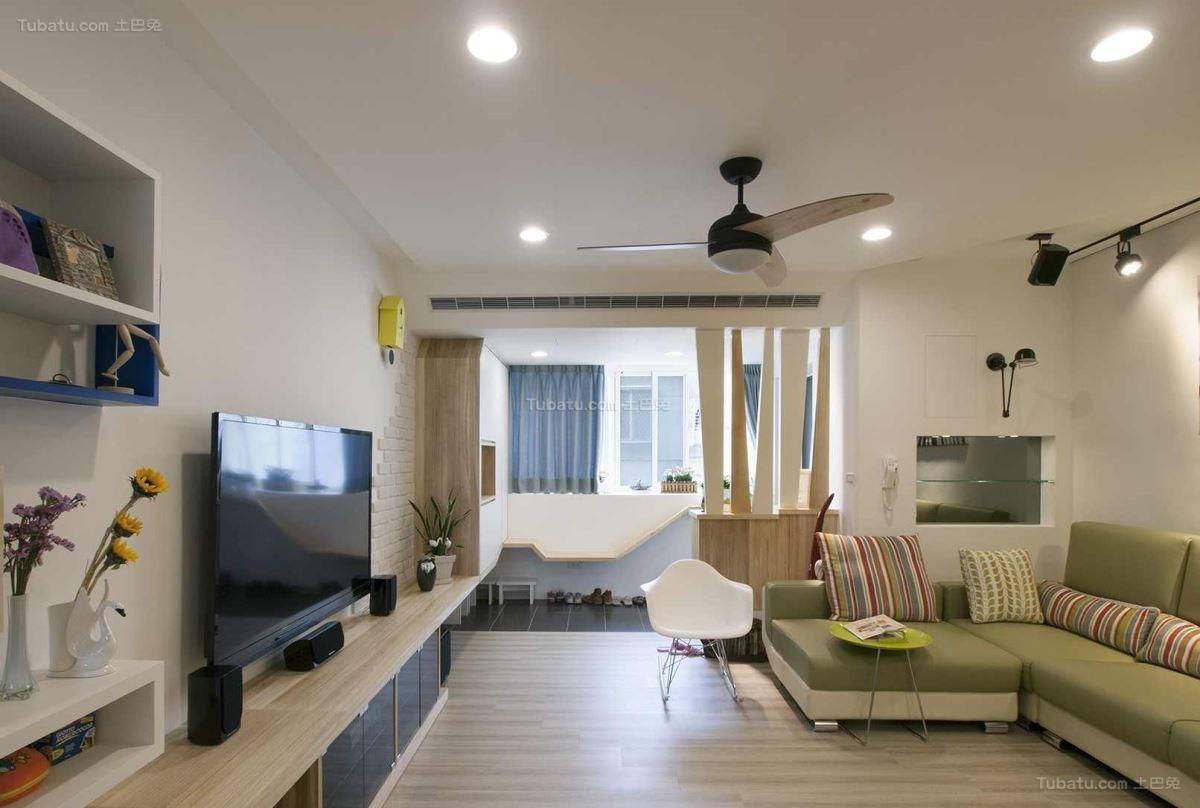创意时尚北欧风格客厅设计效果图