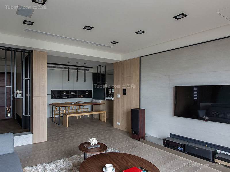 质感潮流现代化二居室设计效果图