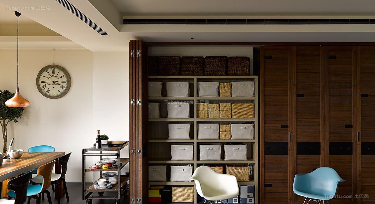 美式工业风格储物柜设计效果图