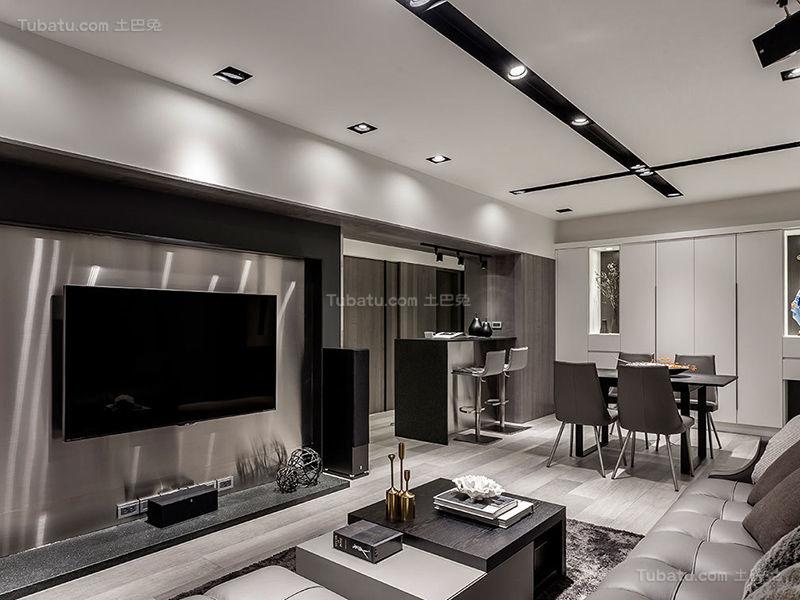 质感现代化四居室设计效果图
