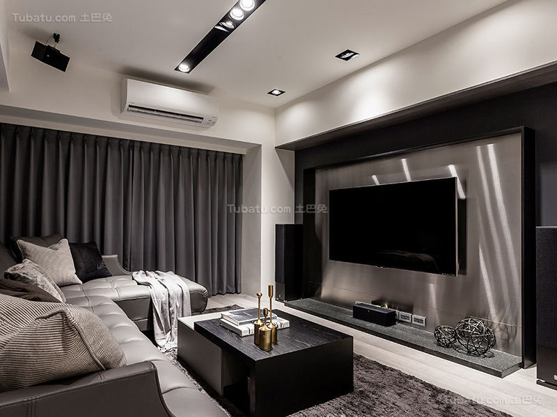 质感现代化电视背景墙设计效果图
