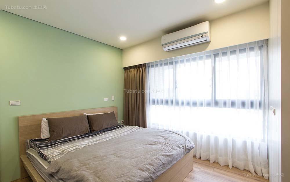 美式色彩乡村风卧室效果图