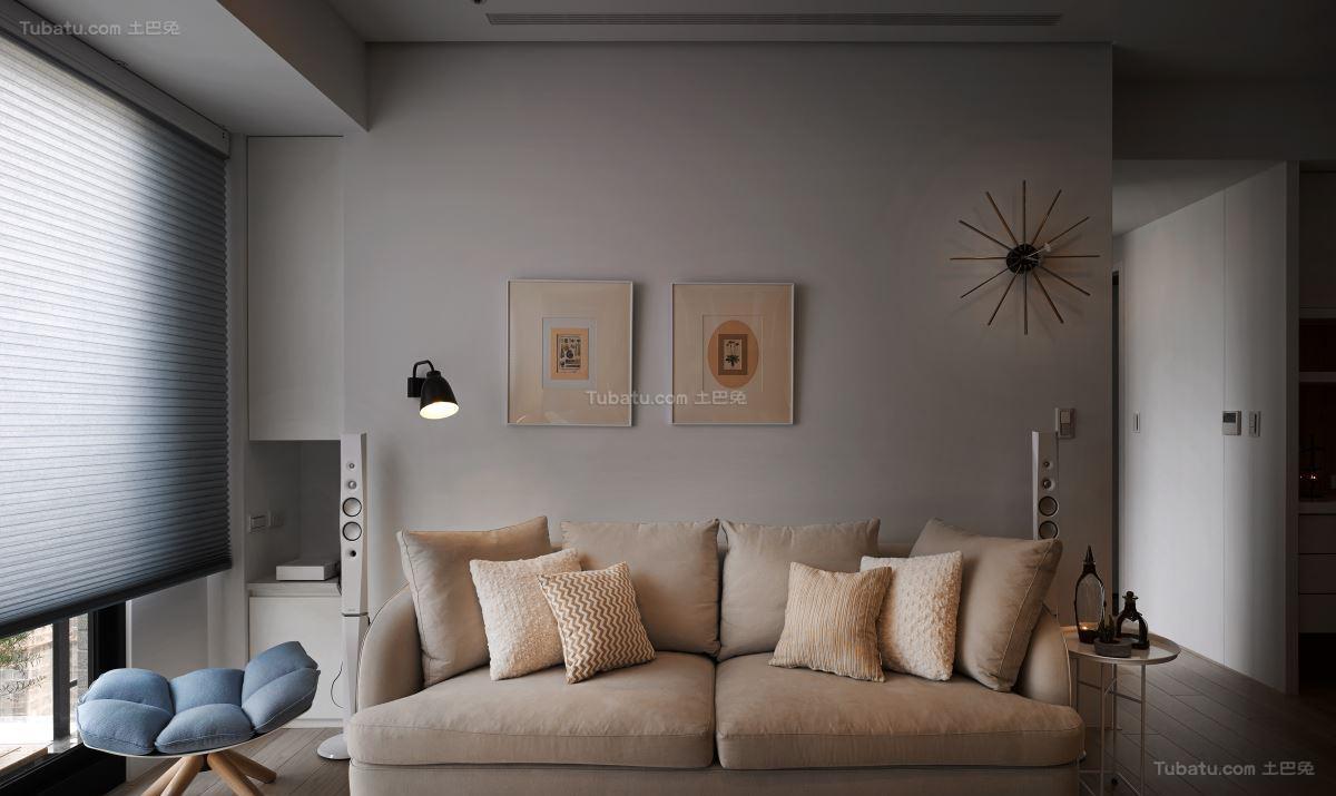 清新有趣北欧风格二居室设计效果图