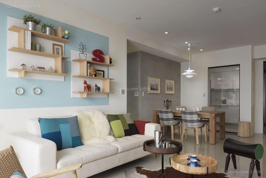 创意潮流北欧风三居室装修效果图