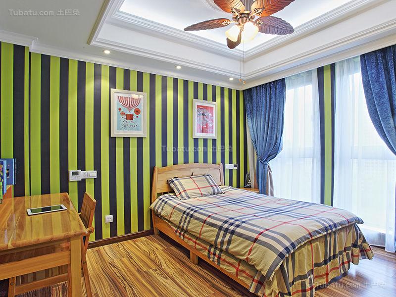 混搭摩登时尚儿童房设计效果图