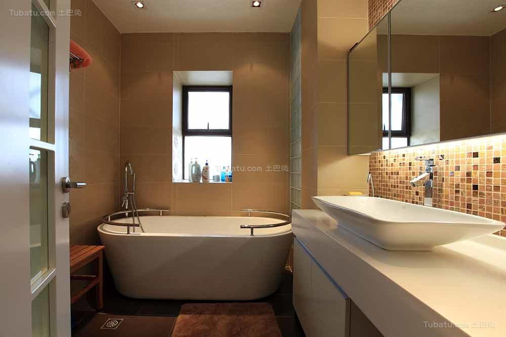 个性现代中式风格卫浴装修效果图