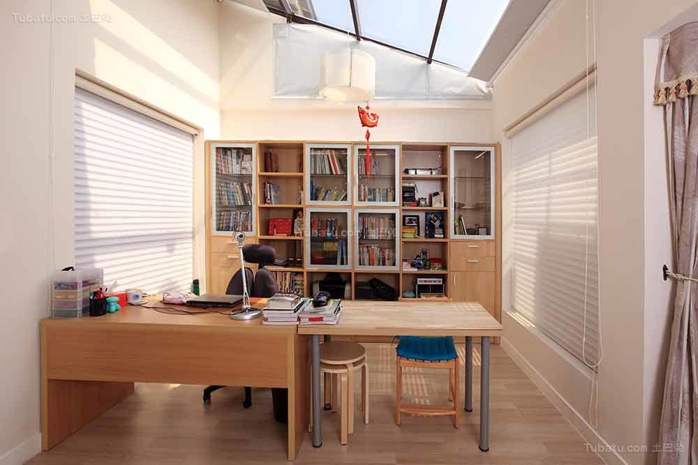 个性现代中式风格书房装修效果图