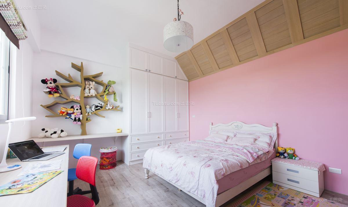清新田园风浪漫儿童房设计效果图