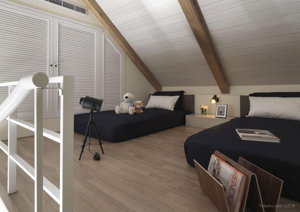 优雅北欧风格卧室设计效果图
