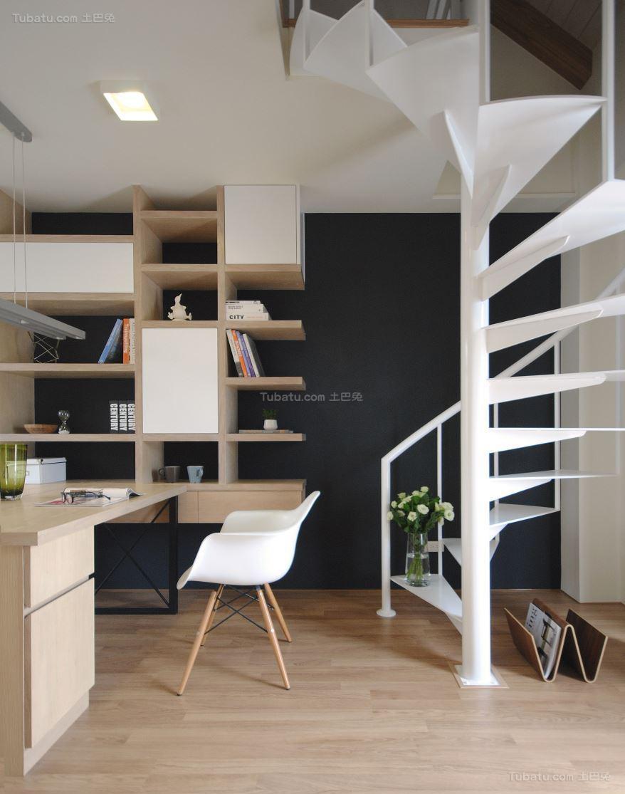 优雅北欧风格楼梯设计效果图