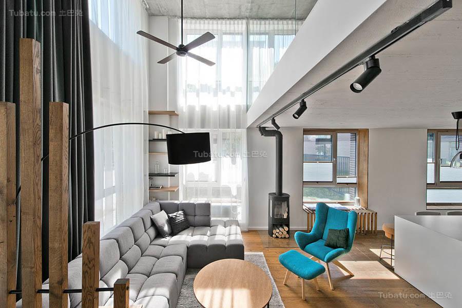 现代风温雅一居室欣赏图