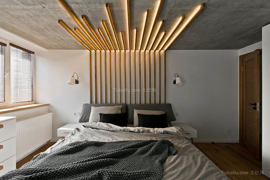 现代风温雅卧室欣赏图