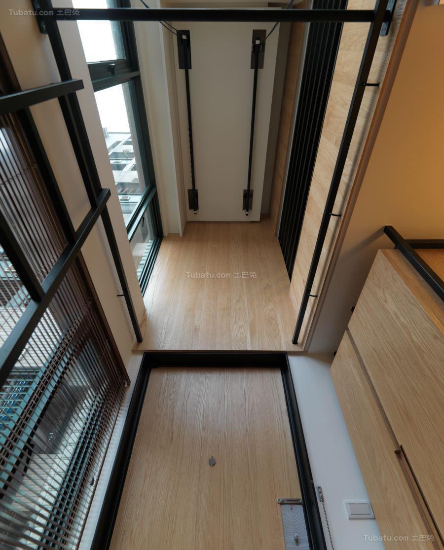 淡雅木质日式风吊顶设计效果图