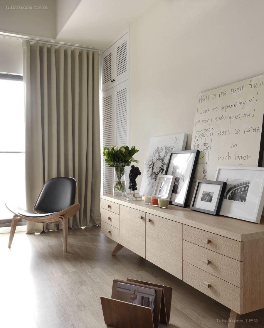优雅北欧风格窗帘设计效果图